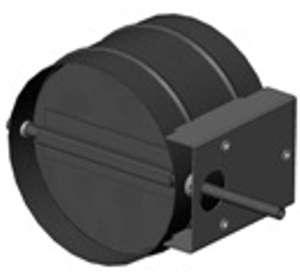 Дроссель-клапан Р 315 Р ниппельный оц.ст. однолопаточный